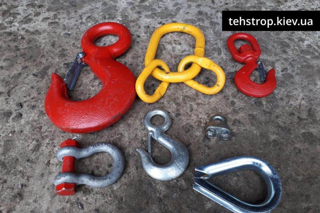 Комплектующие, крюки, зажимы, талрепы
